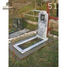 Памятник из мрамора стандарт 51 — ritualum.ru