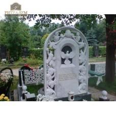 Памятник из белого мрамора № 3  — ritualum.ru